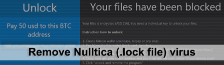 .lock file virus: recovery and ransomware removal