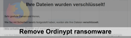 How to remove Ordinypt ransomware virus