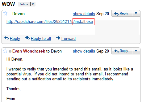 how can you recognize that the email attachment received is not safe