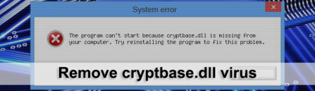 How to fix 'cryptbase.dll is missing' error on Windows