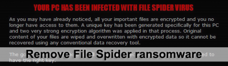 File Spider ransomware removal: decrypt .spider virus files