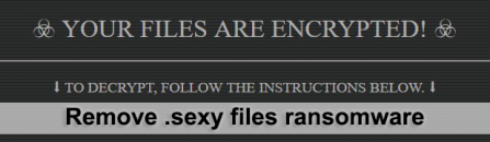 Remove and decrypt .sexy files ransomware