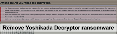 Yoshikada Decryptor: remove and decrypt ransomware virus