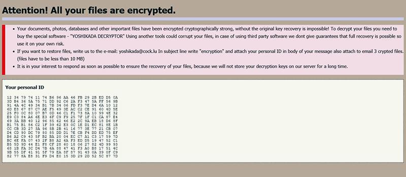 Yoshikada virus ransom note how_to_back_files.html