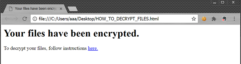 HOW_TO_DECRYPT_FILES.html ransom note by ShurL0ckr virus