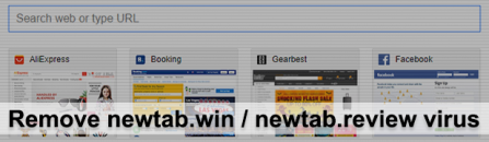 New Tab virus: remove newtab.win / newtab.review redirect from Chrome, Firefox, IE and Safari