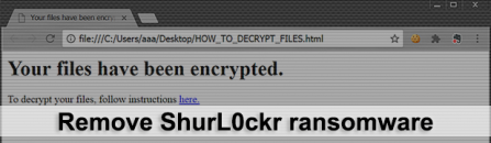 ShurL0ckr ransomware removal and .cypher files decryptor