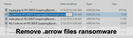.arrow ransomware decryptor and removal