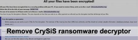 CrySiS ransomware decryptor