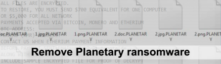 Planetary ransomware removal and decryptor