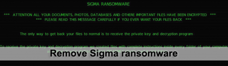Sigma ransomware fix and data decryption
