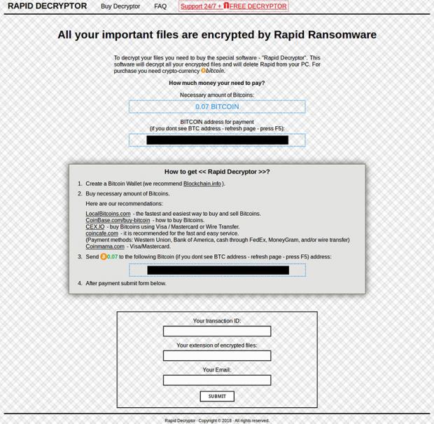 Rapid Decryptor page
