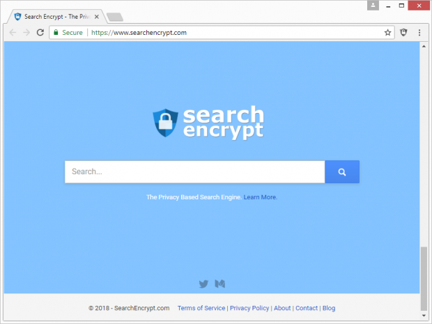 Search Encrypt homepage