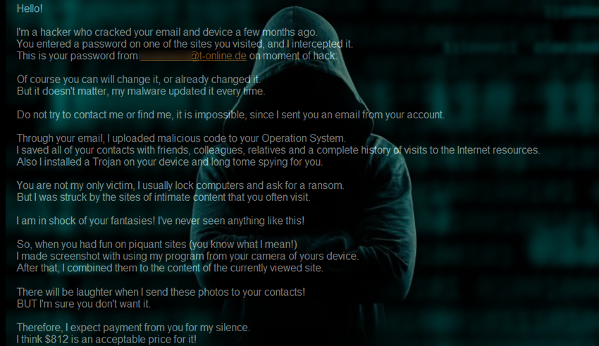 "Hacker who cracked your email"" scam removal - MySpyBot"