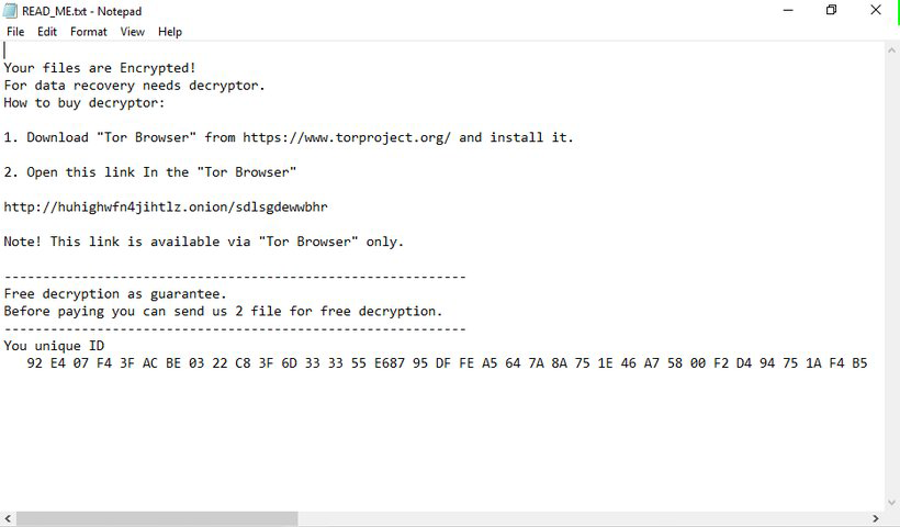 READ_ME.txt ransom note by GlobeImposter 2.0 .pptx ransomware