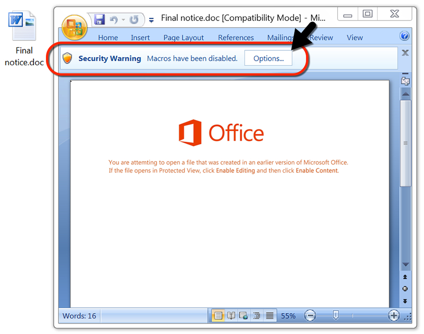 Microsoft Office macros are the primary attack vector for Emotet virus