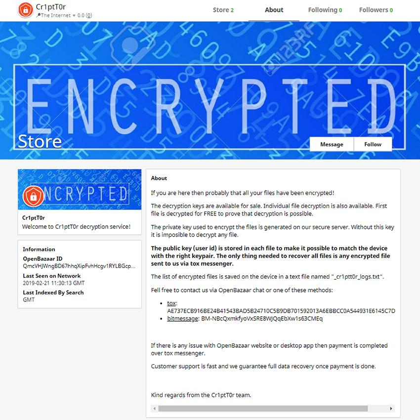 Remove Cr1ptT0r ransomware and decrypt files - MySpyBot