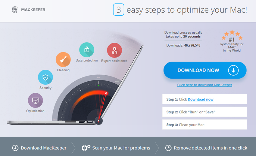 MacKeeper scareware download page linked-to at Weknow.ac