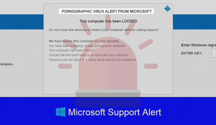 pornographic virus alert from microsoft