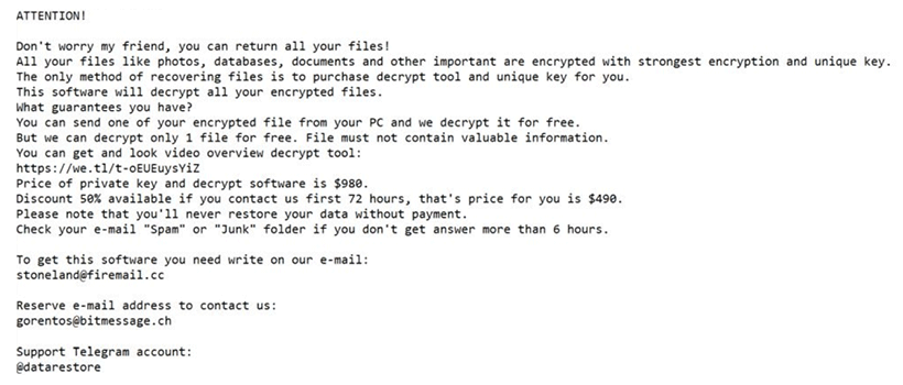 _readme.txt ransom note created by .boston files ransomware