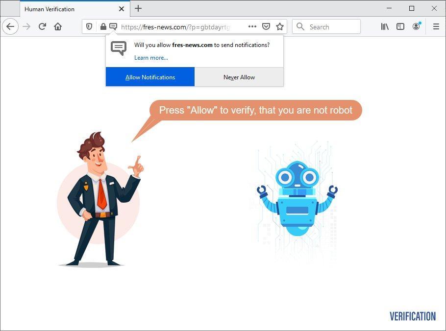 Fres-news.com virus popup