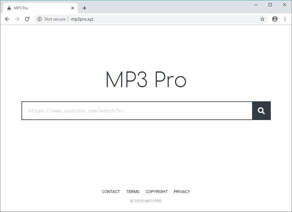 Users opting for mp3pro.xyz service may face a browser disruption predicament
