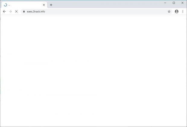Chrome redirected via eaes.2track.info