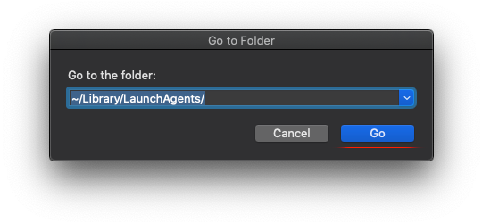 Go to ~/Library/LaunchAgents