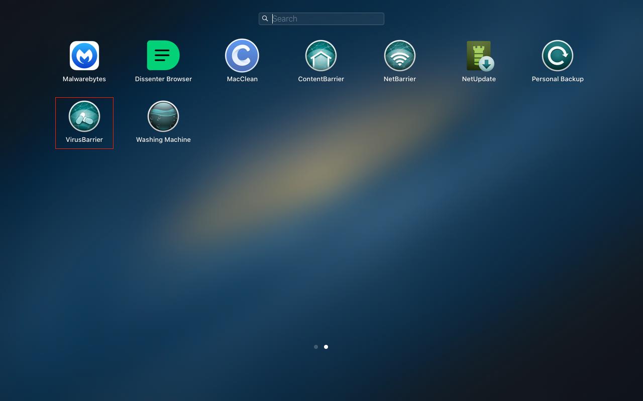 Open VirusBarrier from Launchpad