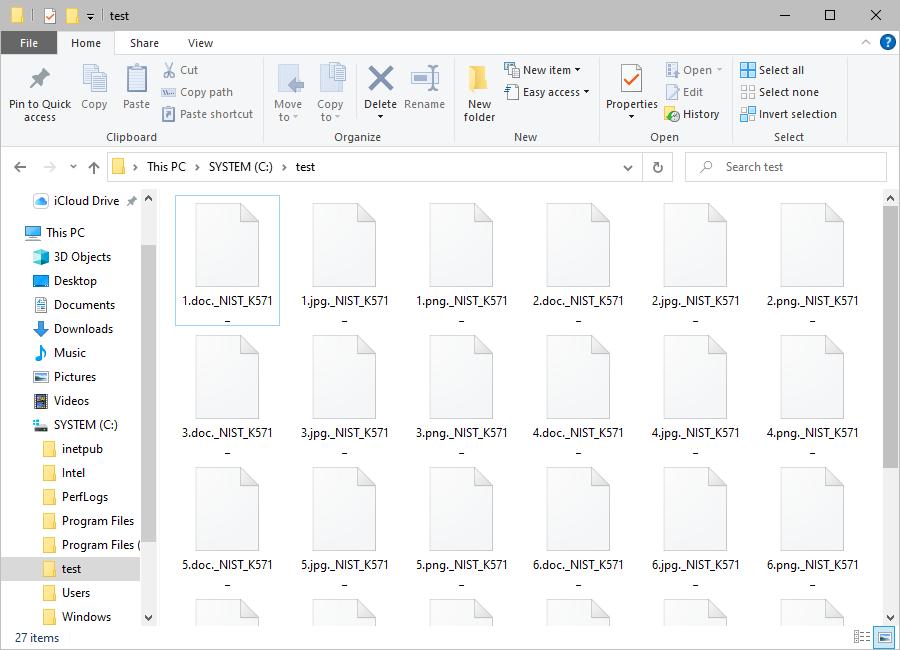 Files encrypted by Babuk Locker