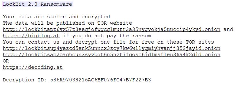 Restore-My-Files.txt ransom how-to dropped by LockBit 2.0